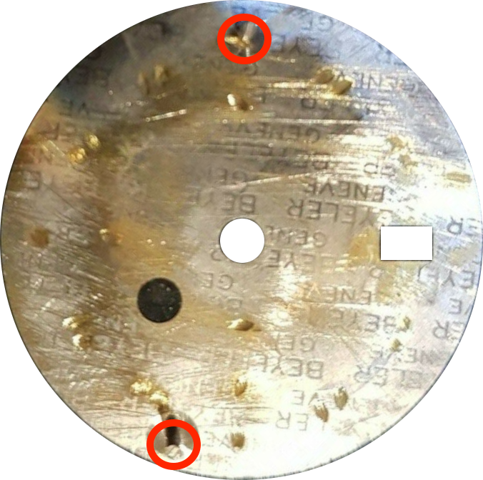dial plate rear