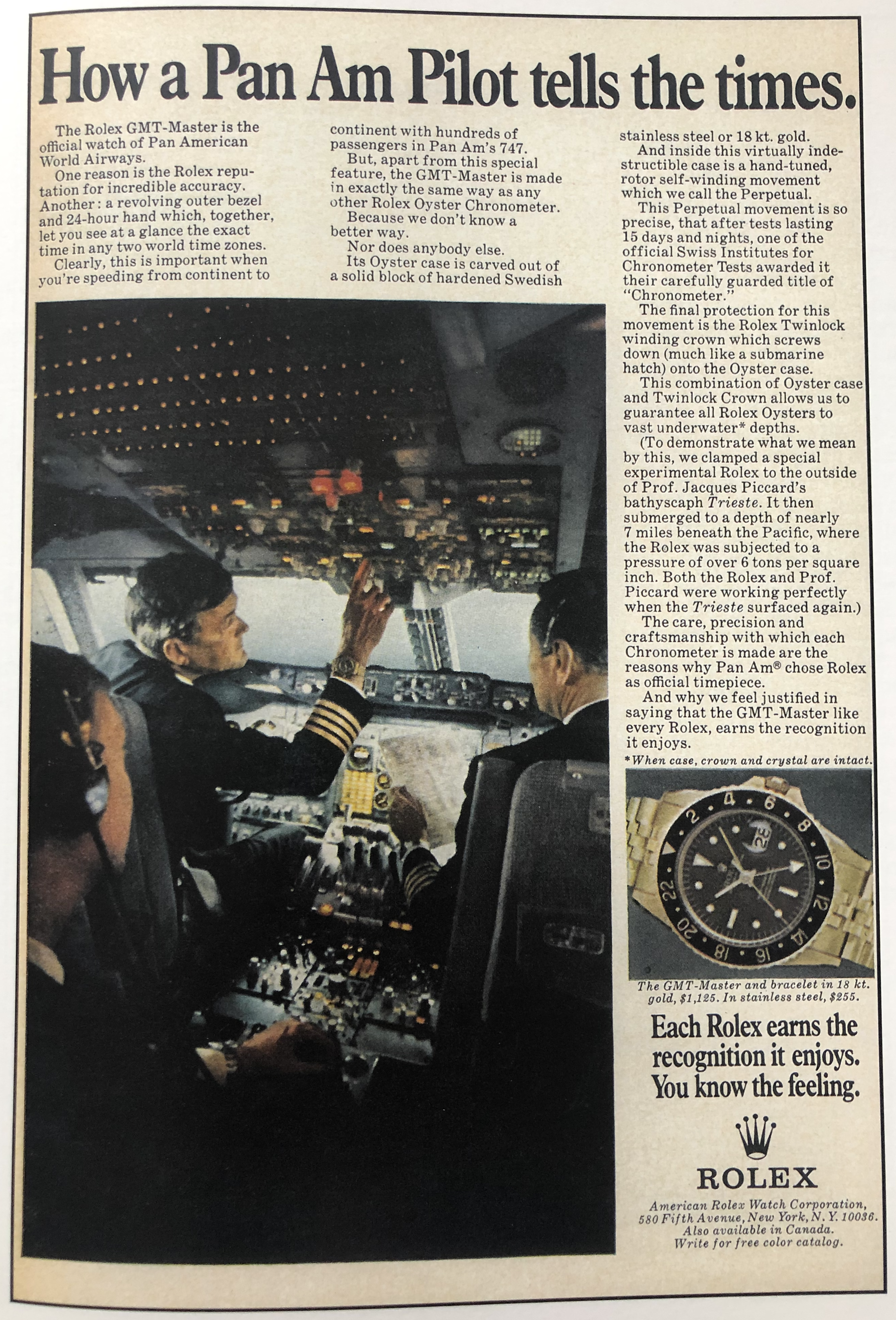 Ad featuring the 747 and the 6542